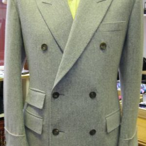 oatmeal tweed double breasted suit