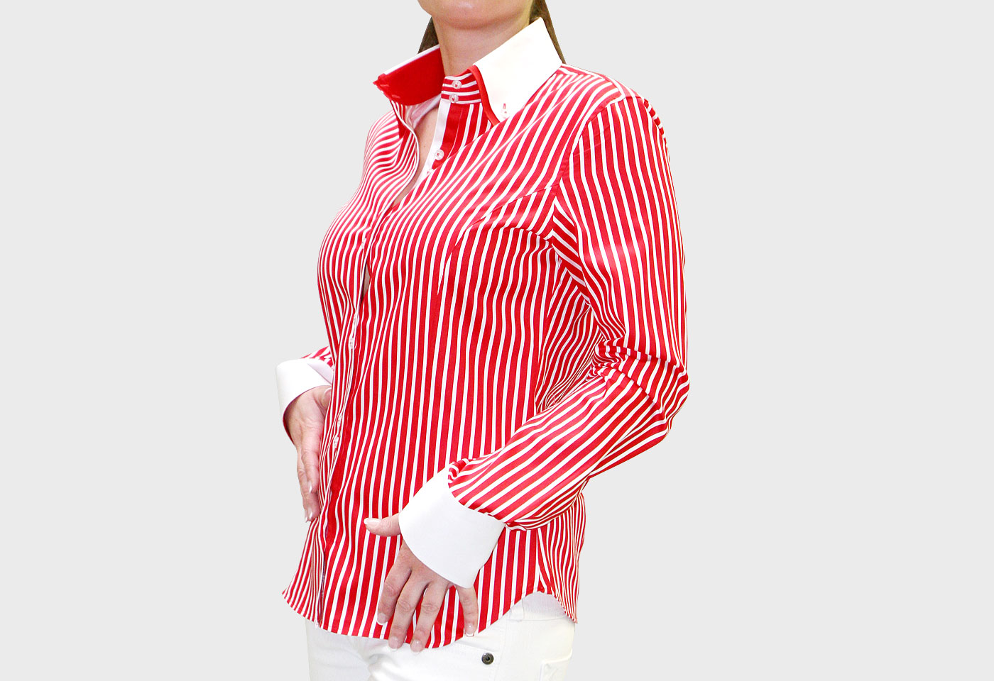 Red And White Stripe Womens