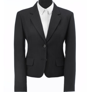 womens 2 button pinstripe suit